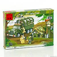 """BRICK 811 (30) """"Военный грузовик"""" 308 деталей, в коробке"""
