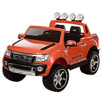 Двухместный детский электромобиль с мягкими колесами Ford Ranger M 2764 EBR-7 оранжевый