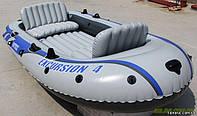 Intex надувная Лодка 68324 EXCURSION 4 SET на 4х человек, 315-165-43 см