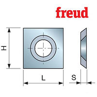 Ножи твердосплавные для строгальных фрезерных головок 14х14х2 мм (Freud)