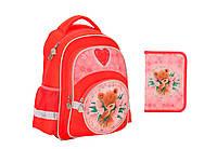 """Комплект школьный. Рюкзак Popcorn Bear"""" PO17-525S, Пенал и Сумка, ТМ  KITE"""