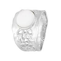 Серебряное кольцо с перламутром Ассанта 000028050 18 размера