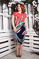 Платье большого размера Саманта (3 цвета)
