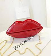 Женская сумочка губки красная, желтая, черная