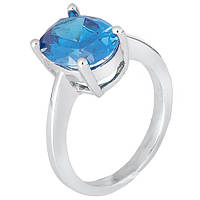 Серебряное кольцо с голубым цирконием Эйриол 000028339 18 размера