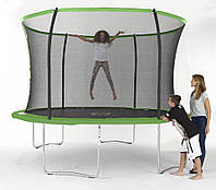 Батут Sportspower 10ft Galvanised Trampoline And Enclosure With Flash Zone - Green