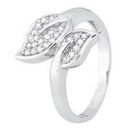 Серебряное кольцо с цирконием Осень 000028279 17 размера