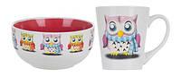 Сервиз Limited Edition OWL /НАБОР/ кружка 380 мл, салатник 520 мл 16542