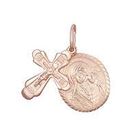Серебряный крестик с ладанкой Талисман  000028631