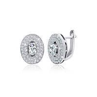 Серебряные серьги с цирконием Эвита 000029059,  размера