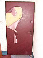 Перетяжка порезаной двери