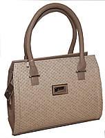 Бежевая каркасная женская сумка B.Elit с текстурой рептилии