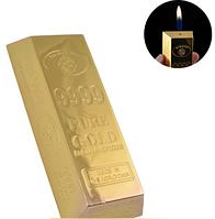 """Зажигалка настольная """"Слиток золота"""" (Обычное пламя) №XT-1714 SO"""