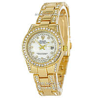 Часы Rolex B40 Women Crystal Gold-White