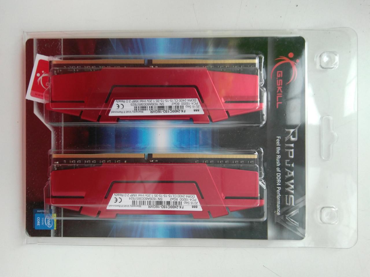 Оперативная память G.Skill 16 GB (2x8GB) DDR4 2400 MHz (F4-2400C15D-16GVR)