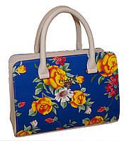 Цветочная женская сумочка Prada (Прада) каркасного типа