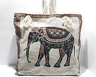 Пляжная текстильная летняя сумка для пляжа и прогулок Индия