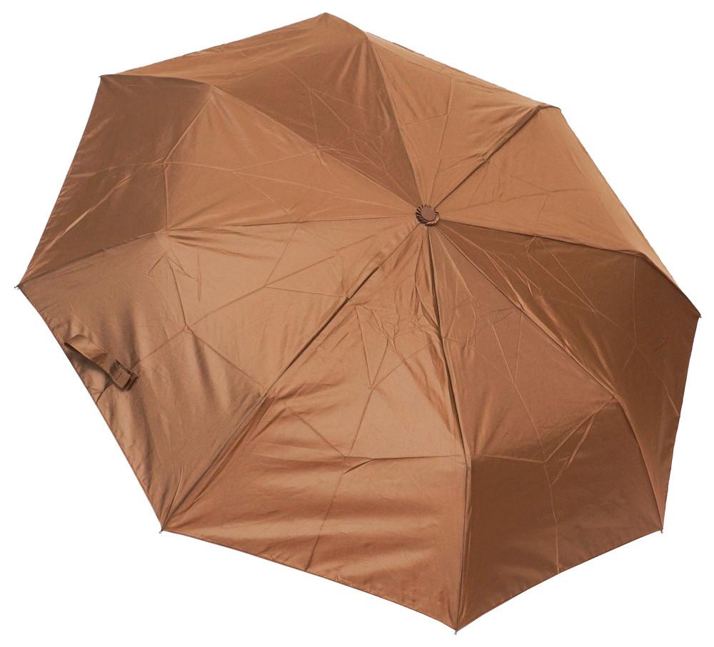 Однотонный женский зонт F310SL coffee