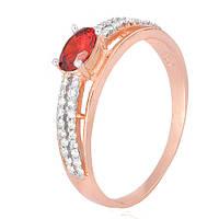 Серебряное кольцо Шеннон с красным фианитом 000028420 19.5 размера