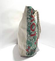 Пляжная текстильная летняя сумка для пляжа и прогулок Совушки, фото 2