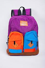 Рюкзак детский с карманами №393К001-1 (Фиолетовый)