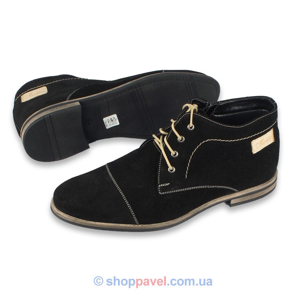 Ботинки Чоловічі Markko M-133 N Замшеві Чорного Кольору — в ... 2f20758088c3e