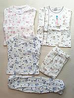 Кофточка и ползунки .Пижамка для новорожденных.