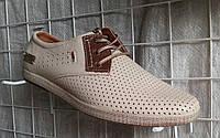 Мужские туфли летние YDG Bellini 7170 с натуральной кожи