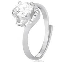 Кольцо из серебра Линдалва с фианитами 000030945