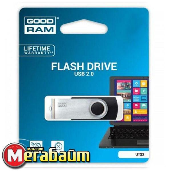 Flash Drive USB 16 GB GOODRAM UTS2 (Twister) Black (UTS2-0640K0R11)