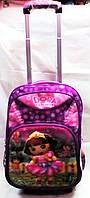 Рюкзак на колесах  Дора  3D галограмма 322 фиолетовый