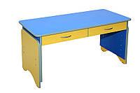 Стол детский 2-местный с ящиками, регулируемый