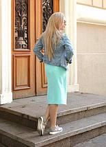 """Летняя юбка-карандаш на запах """"Blanket"""" с карманами (2 цвета), фото 3"""