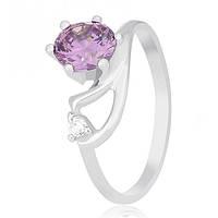 Серебряное кольцо Винтуринья с фиолетовым цирконием 000030955 17 размера