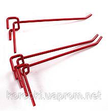 Крючок красный качественный (длина 15 см, диаметр проволоки 4 мм), пр-во Украина