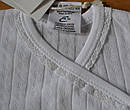 Боди белый с длинным рукавом ажурный в полоски с кружевом, фото 2
