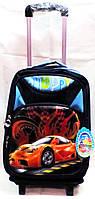 Рюкзак на колесах автомобиль  3D  321 синий