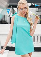 """Прямое летнее мини-платье на завязках """"Shakira"""" с карманами (5 цветов)"""