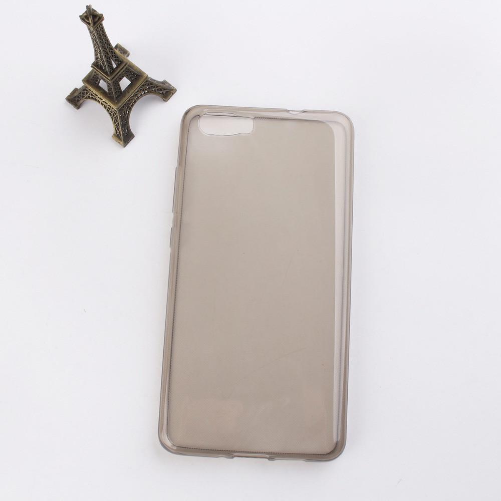 Чехол для Blackview A9 Pro силиконовый прозрачный серый