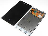 Дисплей сенсор модуль с рамкой для Nokia Lumia 800