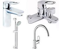 Набор смесителей для ванны + кухня GROHE BauLoope (23337000+32815000+2759800+31368000)