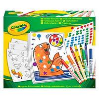 Набор для творчества Crayola с наклейками, фломастерами и мелками