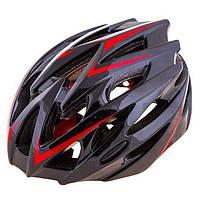 Шлем (велошлем) защитный от падений взрослый Velos 504 (черный)