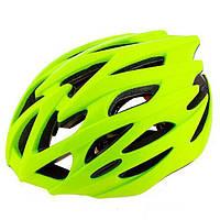 Шлем (велошлем) защитный от падений взрослый Velos 504 (лимонный)