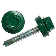 Саморезы кровельные RAL6020 темно-зеленый Сталь 4.8x55 мм 250 шт