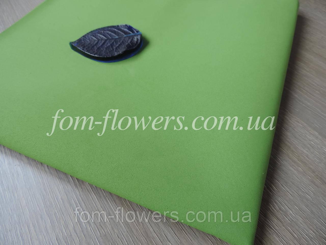 Фоамиран Иранский Темно Зеленый, 60х35 см