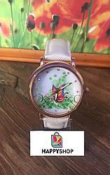 Жіночий кварцевий годинник Butterfly (Білі)