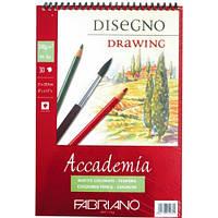 Альбом на спирали, мелкое зерно, А4 , 200г, 30 листов., Accademia, Fabriano