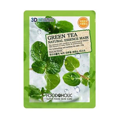 Тканевая маска с Зеленым Чаем Food A Holic 3D Shape