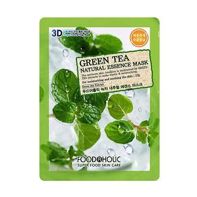 Тканевая маска с Зеленым Чаем Food A Holic 3D